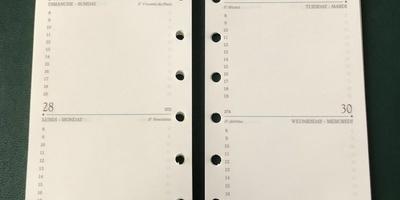 Recharge pour agenda AK12R 2021