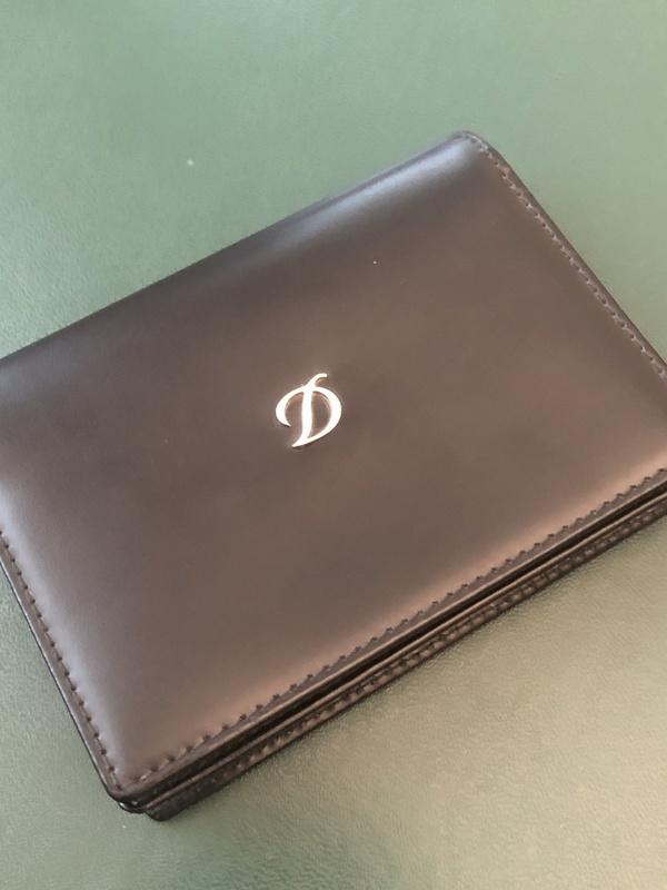 D Line Business Card Noir S.T. Dupont