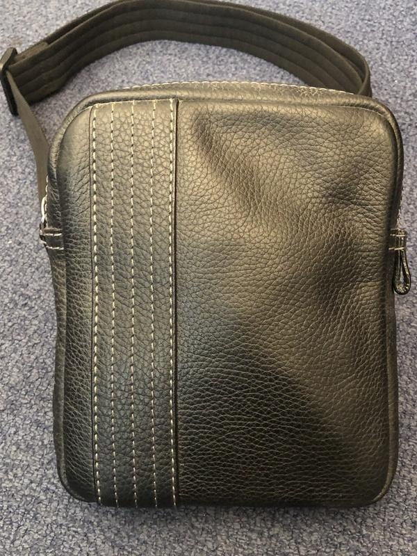 Petit sac zippé S.T. Dupont cuire noir