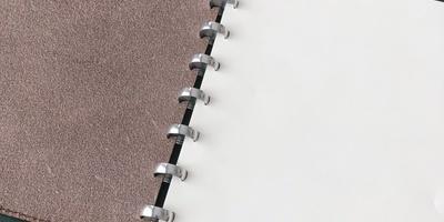 Livre Atoma A5 en cuire brun foncé